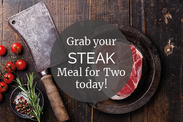 Steak meal for two